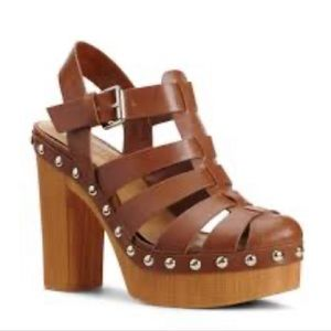 NWOT Nine West Modelme Caged Platform Sandals